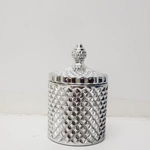 gcc16-SV : Regina Vintage jar - Shiny Silver (NOT DISHWASHER SAFE)