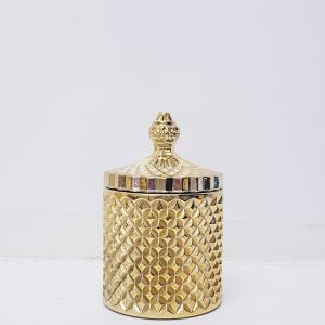 gcc16-GS : Regina Vintage jar - Shiny Gold (NOT DISHWASHER SAFE)
