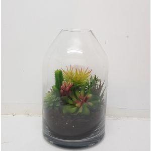 MV001M : Topple Dome Glass Atrium Vase - Medium (H31cm)