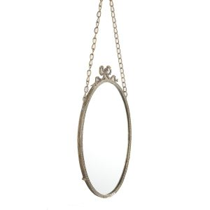 L37 : Antique Oval Hanging Mirror
