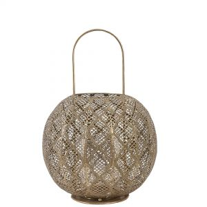 AA10 : Jasmine metal round lantern **AVAILABLE END MARCH**