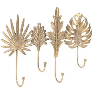 AA09 :Set/4 Golden Persian metal decorative hooks