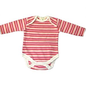chillibaby cotton girls long arm body suit - multi color pink&purple stripes