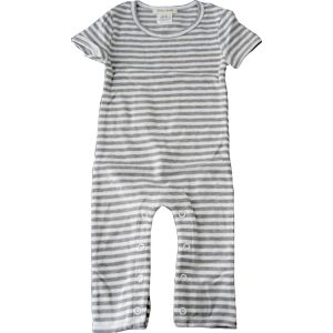 chillibaby cotton boys long leg body suit - grey&white thick stripes