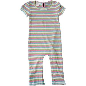 chillibaby cotton girls long leg body suit -green,blue,pink striped