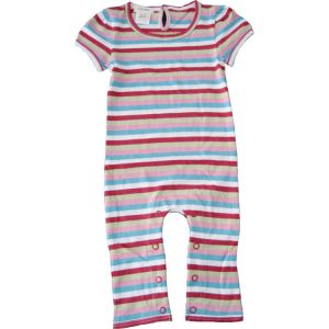 chillibaby cotton girls long leg body suit - multi color w/thick stripes