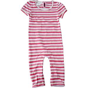 chillibaby cotton girls long leg body suit - pink striped red&cream