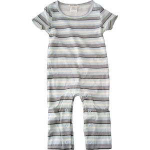 chillibaby cotton boys long leg body suit - blue with grey stripes