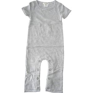 chillibaby cotton boys long leg body suit - grey&white thin stripes