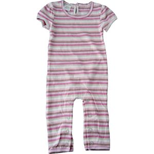 chillibaby cotton girls long leg body suit - pinks striped cream