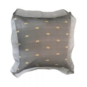 cc45f : 45x45cm silk organza cushion cover w/ flange