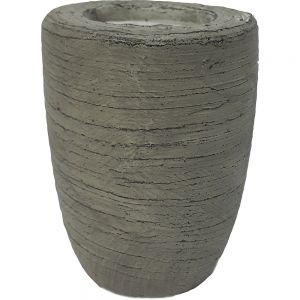 Small Outdoor citronella terracotta pot candle - stone wash
