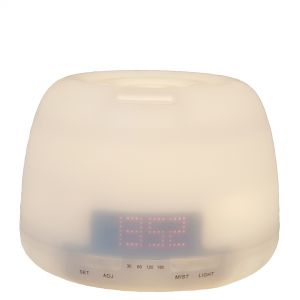 cL120 : Large round aroma diffuser w/ ditigal clock