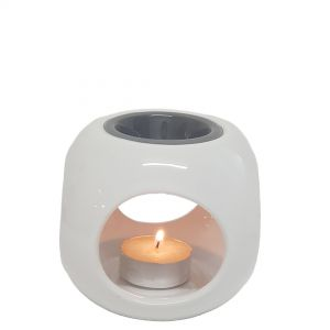 CL1274 : Harold cube 2-tone grey ceramic oil burner **SOLDOUT**