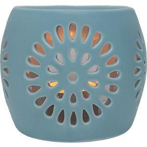 CL22-bu : Mini Rosa round oil burner - blue