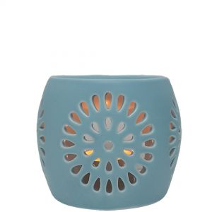 CL22-bu : Mini Rosa round oil burner - blue
