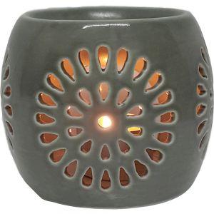 cL22-g : Mini Rosa round oil burner - grey