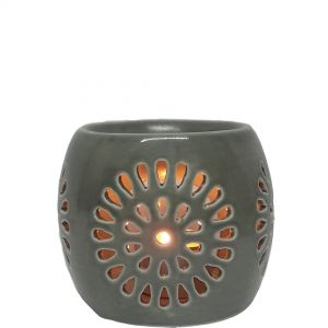 cL22-g : Mini Rosa round oil burner - grey