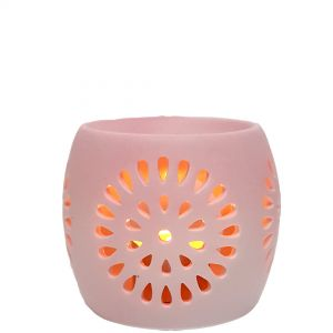 CL22-p : Mini Rosa round oil burner - pink