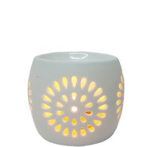 CL22w : Mini Rosa round oil burner - white