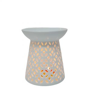 CL25-1 : Jawa ceramic oval oil burner - white **SOLDOUT**
