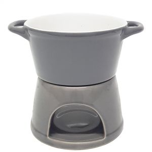 CL52-G : Fondue 2 pc ceramic oil burner - grey
