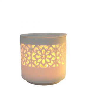 Karam 2pc oil burner -eclectic floral (white)