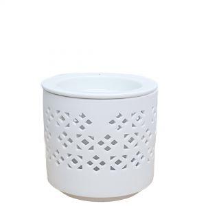 CL56G1-w : Karam 2pc oil burner -eclectic floral (white)