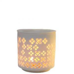 CL56G-w : Karam 2pc oil burner -eclectic diamond (white)