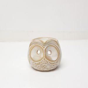 CL69-CR : Mini Owl ceramic oil burner - ivory wash
