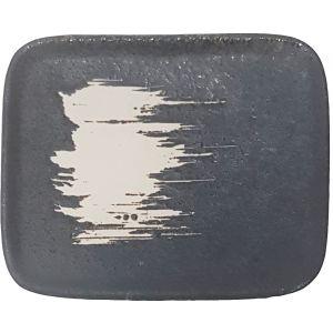 CP-E : rectangular candle plate 12x10cm