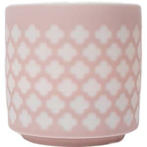 cv04c-p : Lana ceramic votive - cross - pink