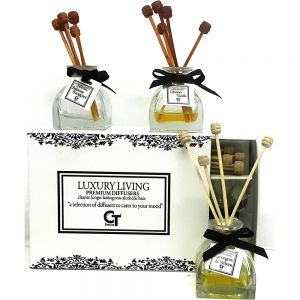 3 premium travel diffusers in luxury living gift box - mix2
