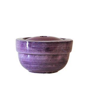 large round ceramic firepot - purple