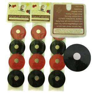 Adhesive wall magnets - circles