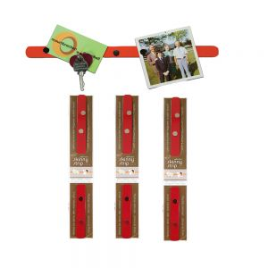 long strip with 4 magnets - red