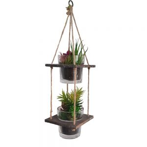 ga62-12 : Cheswick set/2 hanging wooden planter