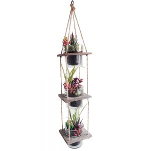 ga62-13 : Cheswick set/3 hanging wooden planter