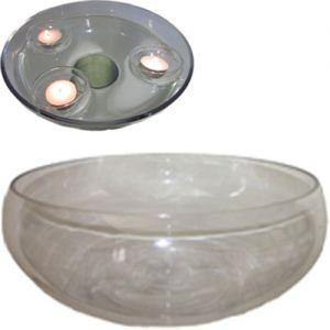 round glass floating bowl - D35cm