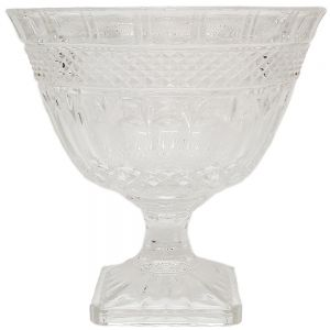gcc012 : Beatrice crystal glass bowl w/footed stem  **AVAILABLE EARLY DECEMBER**