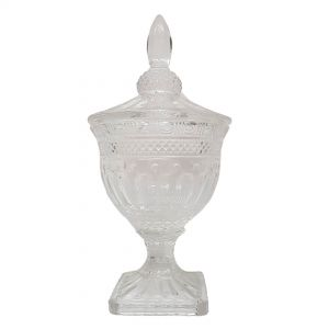 gcc083L : Buckingham crystal glass jar - Large