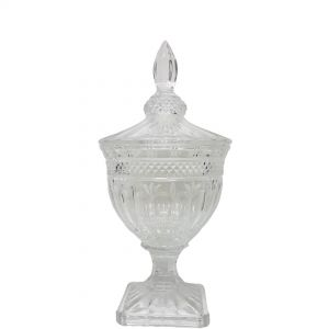 gcc083s : Buckingham crystal glass jar - Small : Clear **AVAILABLE 10TH DECEMBER**