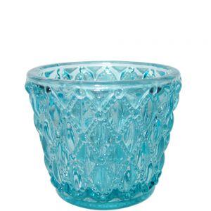 gcc10t : Vintage glass v-shaped votive (NOT DISHWASHER SAFE)
