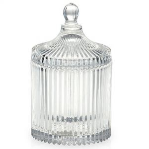 gcc14L : Verona round ribbed jar - large