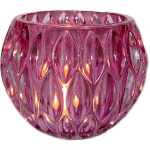 gcc15p : Vintage glass ball votive - pink (NOT DISHWASHER SAFE)