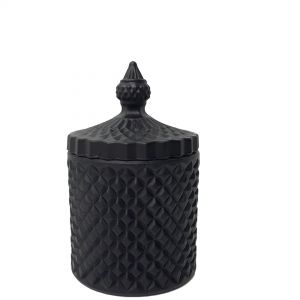 gcc16-bk : Regina Vintage jar - black matte(NOT DISHWASHER SAFE)