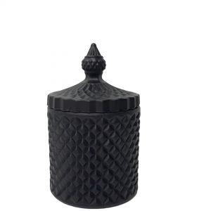 gcc16-bk : Regina Vintage jar - black matte(NOT DISHWASHER SAFE)