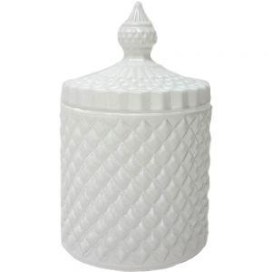 gcc16w1 : Regina Vintage jar - white matte (NOT DISHWASHER SAFE) **AVAIL AUGUST 2020 **