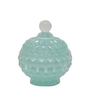 GCC1615BL : Dakota bubble embossed jar - blue (NOT DISHWASHER SAFE) **AVAILABLE END JUNE**