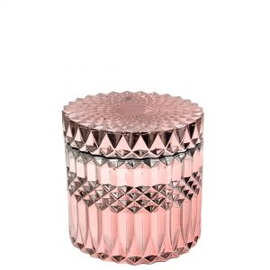 Large Salah embossed cylindrical glass jar - copper (NOT DISHWASHER SAFE)